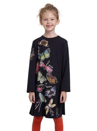 Desigual černé dívčí šaty Vest Naucalpan
