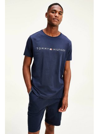 Tommy Hilfiger modré tričko CN SS TEE s logom