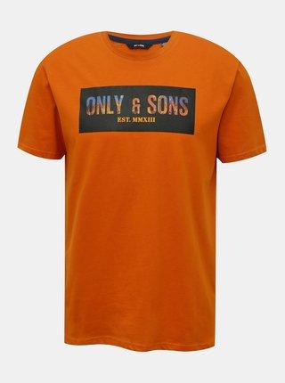 Tricouri pentru barbati ONLY & SONS - oranj