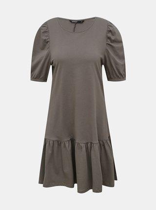 Šedé šaty ONLY Lanny