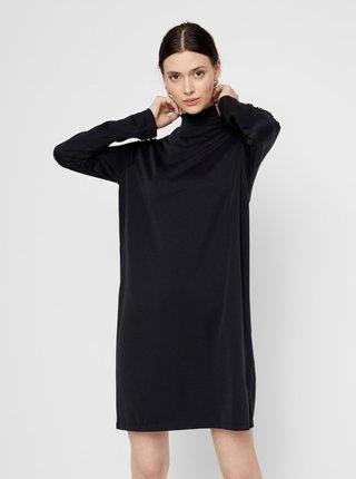 Čierne šaty so stojáčikom Pieces