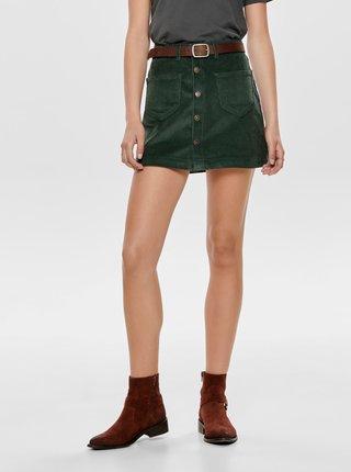 Zelená manšestrová sukně ONLY Amazing