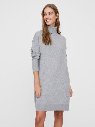 Šedé svetrové šaty VERO MODA Brilliant