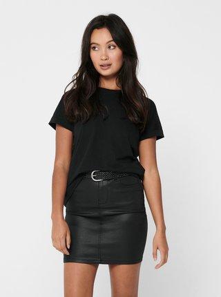 Černé basic tričko Jacqueline de Yong Louisa