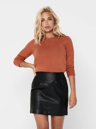 Hnedý sveter Jacqueline de Yong Marco