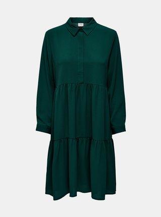 Zelené košilové šaty Jacqueline de Yong Piper