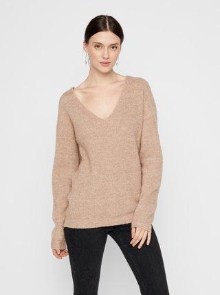 Béžový sveter Pieces Babett