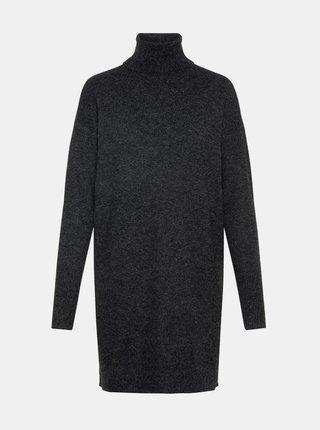 Černé svetrové šaty VERO MODA Brilliant