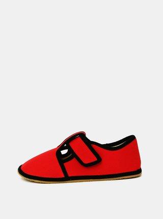 Červené dievčenské papuče 3F