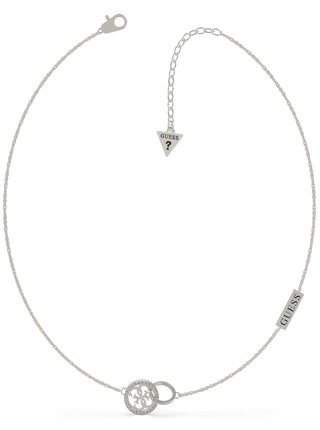 Guess stříbrný náhrdelník Equilibre