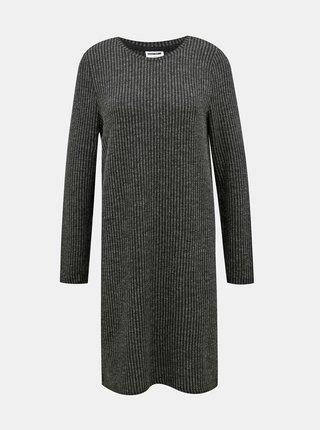 Tmavošedé svetrové šaty Noisy May Lucie