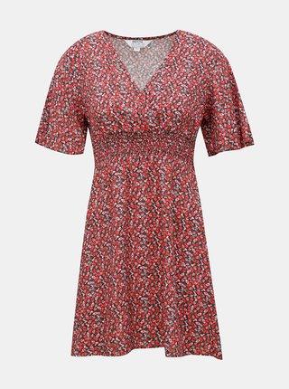 Červené kvetované šaty Dorothy Perkins Petite