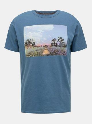 Modré tričko s potiskem Jack & Jones Dawson