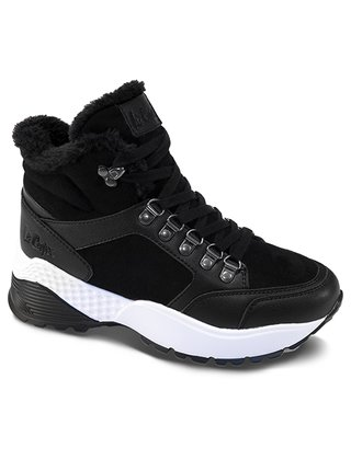 Lee Cooper černé zimní boty Black Winter