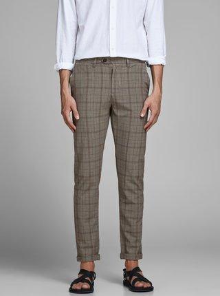 Béžové kostkované kalhoty Jack & Jones Marco
