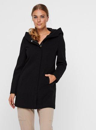 Čierny kabát s kapucou VERO MODA Dafne