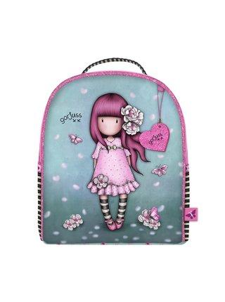 Santoro tyrkysový malý batoh Gorjuss Sparkle&Bloom Cherry Blossom