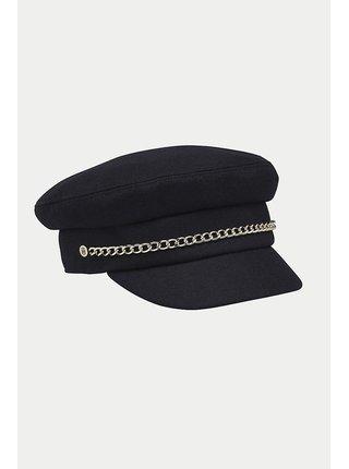 Tommy Hilfiger tmavě modrá čepice s řetízkem TH Baker Boy Sky Captain