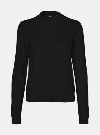 Čierny ľahký sveter so stojáčikom VERO MODA Galex