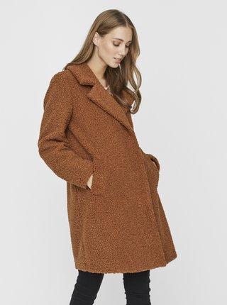 Hnědý kabát VERO MODA Lucinda