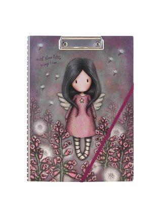 Santoro růžovo fialové desky s blokem