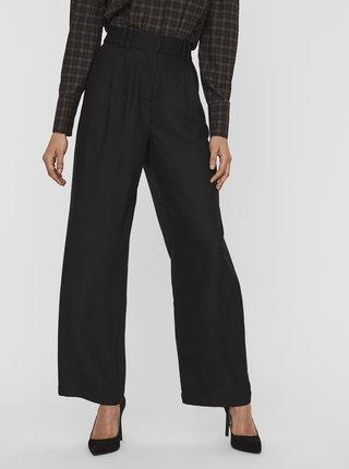 Černé široké kalhoty AWARE by VERO MODA Minna