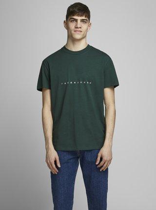 Tmavě zelené tričko Jack & Jones Orcopenhagen