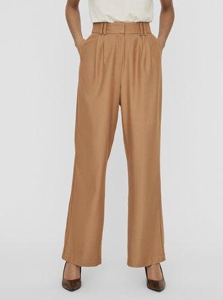 Pantaloni chino pentru femei AWARE by VERO MODA - maro deschis