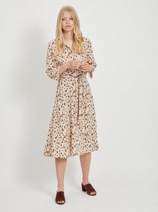 Béžové vzorované košilové šaty .OBJECT Nelle