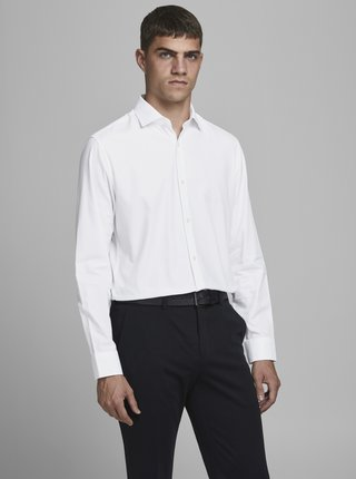 Biela košeľa Jack & Jones Prblaroyal