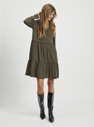 Khaki volné šaty VILA Sheeran