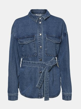 Modrá rifľová košeľa Noisy May Emily