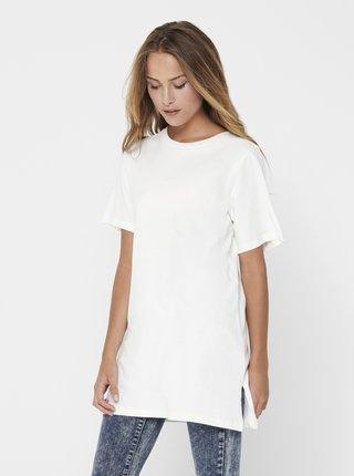 Biele oversize tričko Jacqueline de Yong Kris