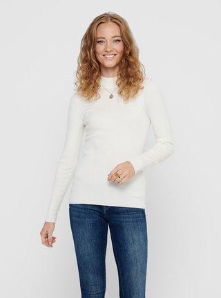 Krémové tričko Jacqueline de Yong New Maryan