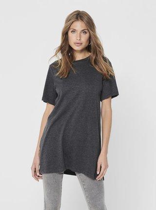 Tmavě šedé oversize tričko Jacqueline de Yong Kris