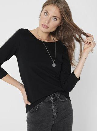 Čierne tričko Jacqueline de Yong Saga