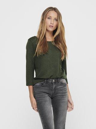 Khaki tričko Jacqueline de Yong Saga
