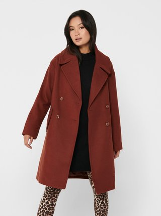 Hnedý kabát Jacqueline de Yong Storm