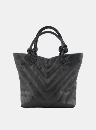 Čierna prešívaná kabelka Pieces Sonia