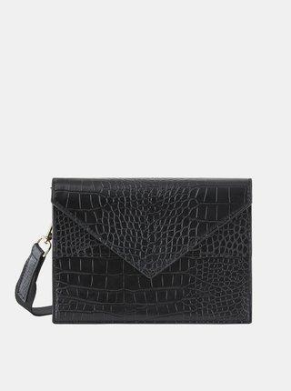 Čierna kabelka s krokodýlím vzorom Pieces Symfoni