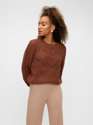Hnedý sveter Pieces Rachel