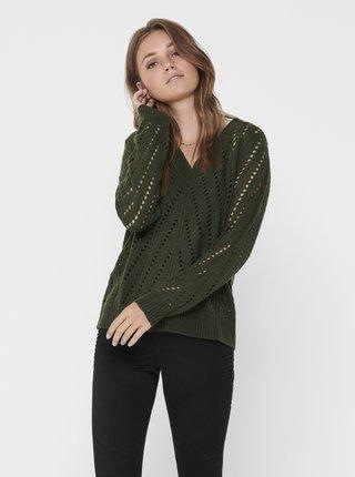 Tmavozelený sveter Jacqueline de Yong Kristen