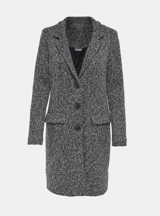 Šedý žíhaný kabát Jacqueline de Yong Besty