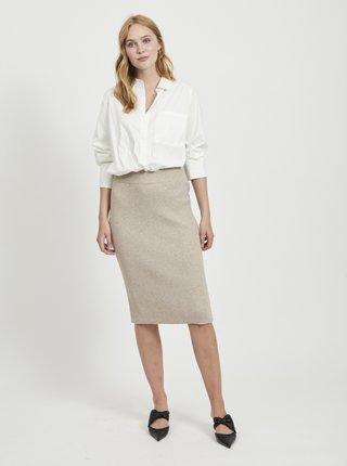Béžová pouzdrová sukně VILA Ril