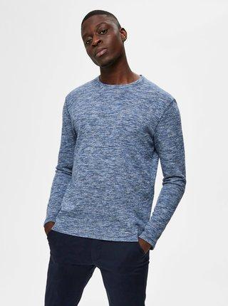 Modrý žíhany sveter Selected Homme Jay