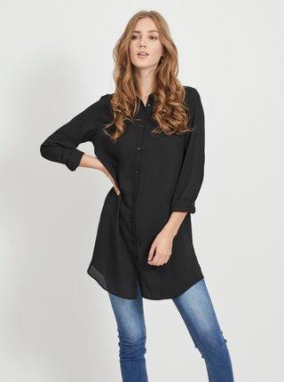 Čierna dlhá košeľa VILA Lucy
