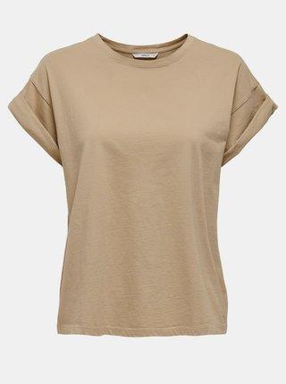 Béžové basic tričko ONLY Silla