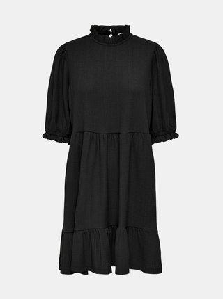 Čierne voľné šaty ONLY Zille