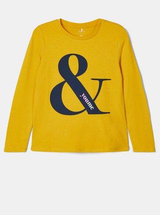Žlté dievčenské tričko name it Natty
