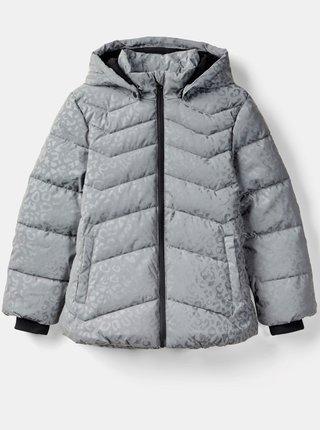 Šedá dievčnská zimná prešívaná bunda name it Matilda